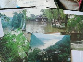 成都、重庆不成套明信片六张