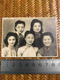 民国老照片  五美女老照片