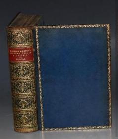 1875年Thomas Carlyle : William Meister of Goethe 卡莱尔英译歌德名著《威廉•迈斯特》3册全 合订于1册 名工坊Relfe全小牛皮豪华装祯 配补精美插图 品佳