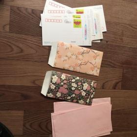 信封信纸,加明信片。