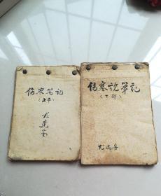 伤寒论笔记(上下)(手写)