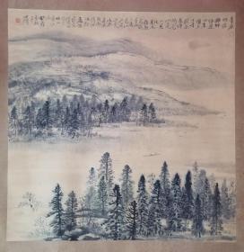 山水国画一张(画的好)