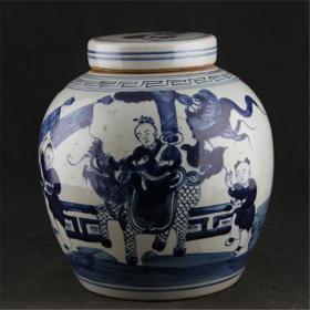 古玩杂相收藏多年的青花人物罐收藏1