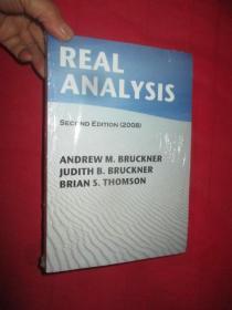 Real Analysis 2008     (16开)    【详见图】,全新未开封