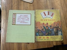 4885:文革有毛主席语录的簿子2个,一册记录有70年代的日记,一册记录医方及各种病的治疗