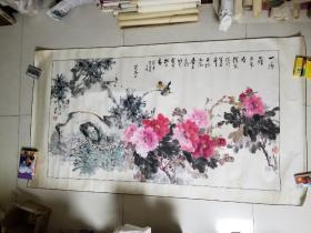汉中著名画家 赵世钧(1931——)花鸟画