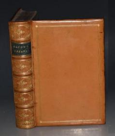 1870年 Bacons Essays – 《培根随笔集》著名钱多斯本初版本 全顶级原色小牛皮豪华装祯 品相绝佳 配补插图