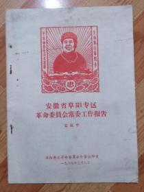 A210安徽省阜阳专区革命委员会常委工作报告