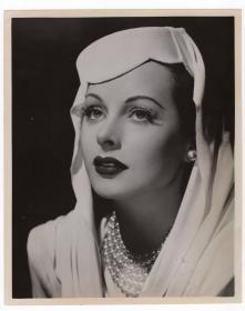 """最美科学家 """"WiFi之母"""" 海蒂拉玛 Hedy Lamarr 1957年原版新闻照"""