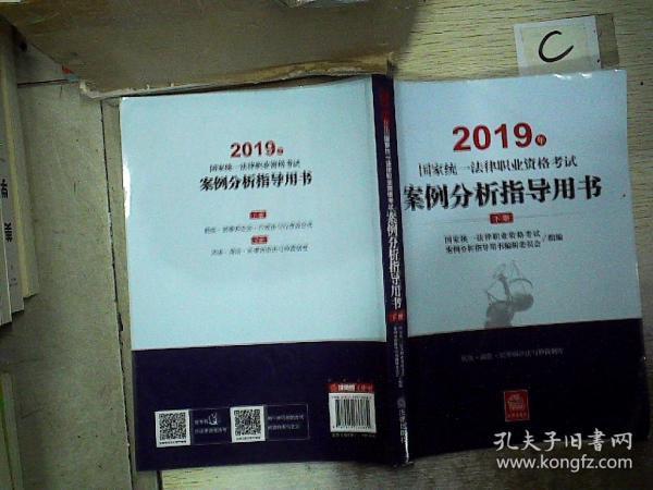 司法考试2019 2019年国家统一法律职业资格考试案例分析指导用书(全2册)