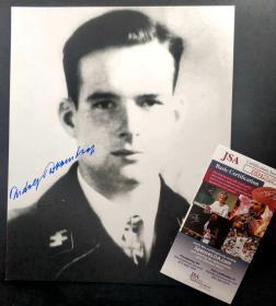 """""""纳粹实力官二代"""" 鲁道夫·冯·里宾特洛甫 签名照片(8×10英寸) 三大签名鉴定公司之一JSA鉴定"""