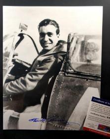 """""""海外归化王牌"""" Steve Pisanos (史蒂文·皮萨诺斯)   签名照片(8×10英寸) 三大签名鉴定公司之一PSA/DNA鉴定"""