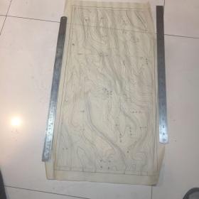 民国时期甘肃某地蜡版地图