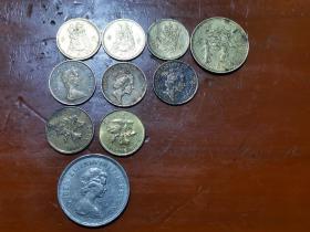 香港一毫伍毫以及一元硬币,保真,单买10元一枚,一起走50元
