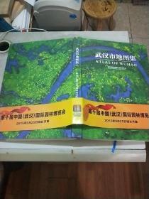 武汉市地图集(8开精装本书衣全)15年1印