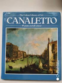 【原版现货】the colour library of art  CANALETTO  49 plates in full colour