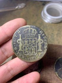 西班牙双柱银币,包老包真