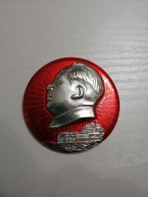 毛主席像章,嘉兴南湖红船章,中共一大革命纪念船嘉兴南湖