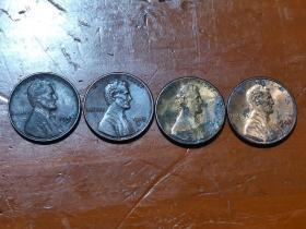 林肯一美分币,有1944年,1983年,1986年,1988年