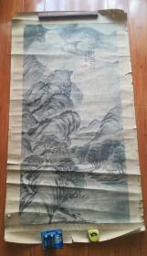 清末民国大中堂山水一幅。题材好!已卯年画于北京。镇店之宝,水满聚财!!!画心尺寸129*64年前特价