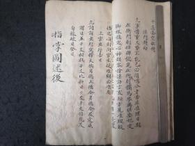 老的手抄本《照抄法笔惊天雷》—内容古代断案量刑的。内容88页176面。字内容一流。