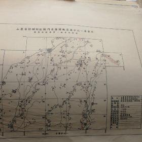 山东省郯城附近龙门水库灌溉区万分之一图