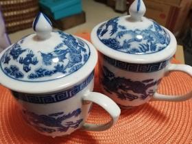 青花瓷老茶杯