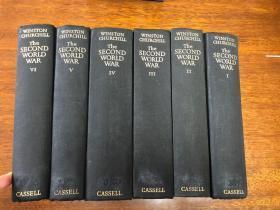 The Second World War    六卷全 丘吉尔名著 布面精装原版