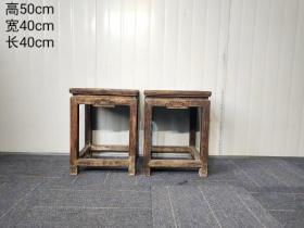 拆迁偶得民国时期方凳一对,也可做花几,全品保存完好,非常漂亮大气,包浆浓厚,磨损自然,保真包老,品相尺寸如图!