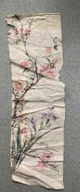 晚清民国画家胡汀鹭花卉图