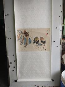 江文湛   花鸟画  立轴 尺寸58x41