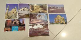 台湾风光老明信片八张