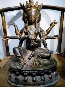 十六国时期的紫铜佛像,低价出-保真包老----
