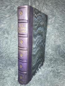 1835年 THE LITERARY SOUVENIR AND CABINET OF MODERN ART 含25副整页插图  毛边本 半皮装帧 书顶刷金 21X15CM