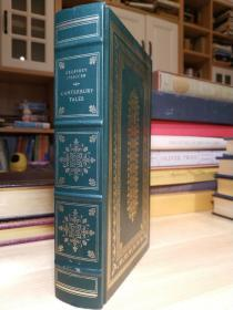 Canterbury Tales 乔叟的 坎特伯雷故事集  书口刷金