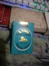 狮牌塑光扑克 3008