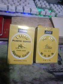 狮牌塑光扑克3008