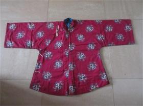 精品民国女士婚庆出嫁红色棉布上衣大襟袄夹袄收藏老服装演出戏服