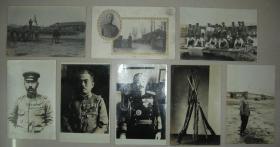 日本侵华资料 民国 日军 少见银盐照片明信片7枚+普通明信片1枚