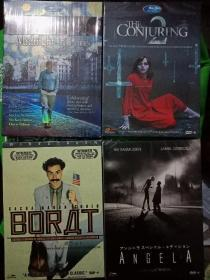 外文原版DVD  《招魂2》《天使A》《波拉特》《午夜巴黎  第三版》四盒合售  全新未拆封