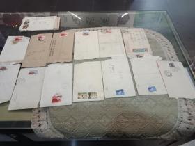 信封通走,总体完好,有5张没邮票。
