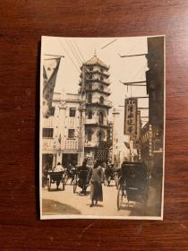 大东书局老照片,1930年代,8X5.5CM