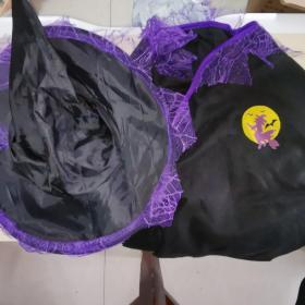 儿童款爱新奇 西方女巫cos服装帽子