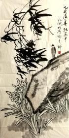 张建中,画鸟画旧作没裱买家自鉴别!