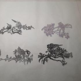 剪纸模板,四季花鸟
