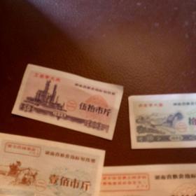 1969 年湖南省指标划拨票