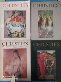 Christies(英文原版,香港佳士得拍卖公司拍卖品通讯图录2016年等4期(见图)合售/BT