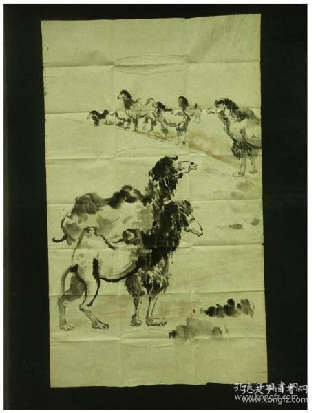 011405名家手繪駱駝圖