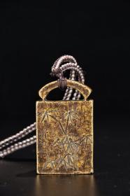 旧藏:【老铜造「竹叶纹」印章】
