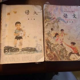 80年代小学课本  小学语文第四册 第六册 2本合售